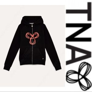 TNA Pacific Zipper Hoodie with Maroon Logo - Black